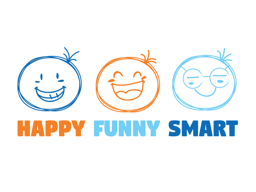 Happy Funny Smart Logo